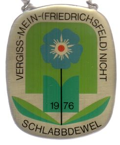 Jahresorden 1976 Vergiss-mein-(Friedirchsfeld) nicht ! Orden zur Bundesgartenschau 1976