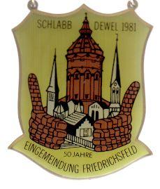 Jahresorden 1981 50 Jahre Eingemeindung Friedrichsfeld