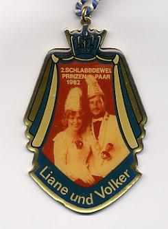 Prinzenpaarorden 1982 Liane & Volker