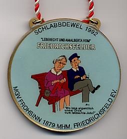 Jahresorden 1992 Leberecht und Amalberta vom FRIEDRICHSFELDER
