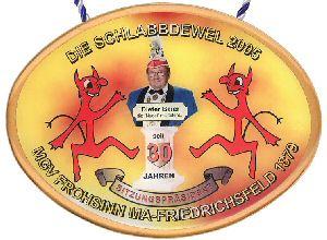 """Jahresorden 2005 30 Jahre Sitzungspräsident """"Dieter Baier"""""""