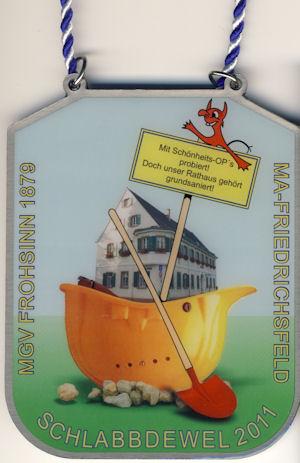 Jahresorden 2011 Mit Schönheits-OP´s probiert ! Doch unser Rathaus gehört grundsaniert !.